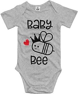 Unisex Baby's Baby Bee Bodysuits Romper Short Sleeved Onesies