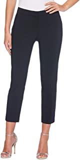 Rafaella womens Petite Lightweight Satin Twill Ankle Pant Dress Pants