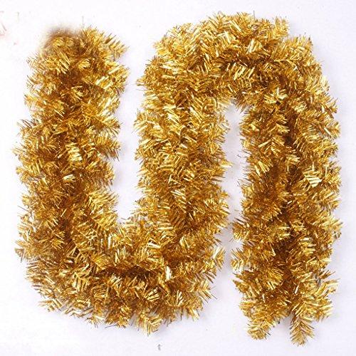 GYH Rotin de décoration de Noël - Ornement de décoration de Noël 2.7m Or Rotin Noël Noël /& (Couleur : Or)