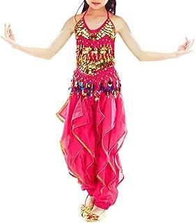 BellyLady Kid Belly Dance Costume, Harem Pants & Halter Top for Halloween
