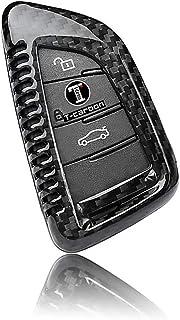 Fernbedienungshülle für Autoschlüssel aus reiner Kohlefaser für BMW Bj. 2014–2016, X5, X6, F15, F16