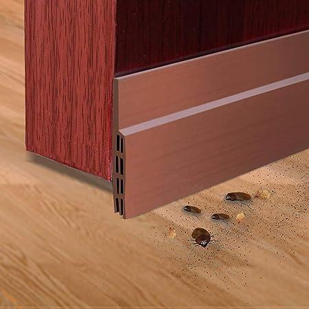 2pcs Door Under Bottom Seal Soundproof Draft Strip Blocker Stopper Cleaning