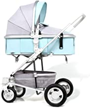 Cochecitos plegables ligeros con capacidad de carga de 25 kg con posición de reposo Carro Convertible Compacto para Bebé Infantil Silla de paseo infantil hacia atrás o hacia adelante ( Color : Green )