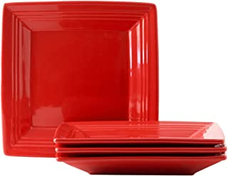 Tuxton Home Concentrix Square Plate (Set of 4), 8 1/2