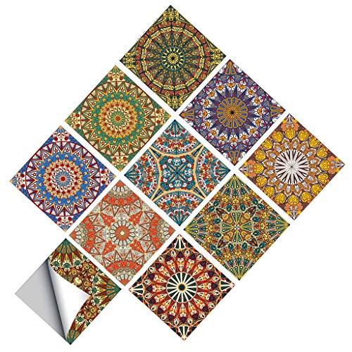MagiDeal 10 Piezas Autoadhesivo Cuadrado Pared Mosaico Azulejo Vinilo Ladrillo Adhesivo Películas - a, Individual