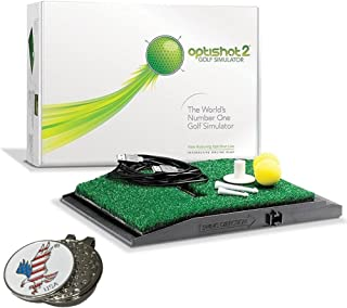 OPTISHOT 2 Golf Simulator (Mac & PC) Bundle | Includes 1 American Eagle Golf Ball Marker and other custom options