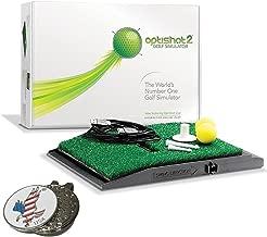 OPTISHOT 2 Golf Simulator (Mac & PC) Bundle | Includes 1 American Eagle Golf Ball Marker and other custom options