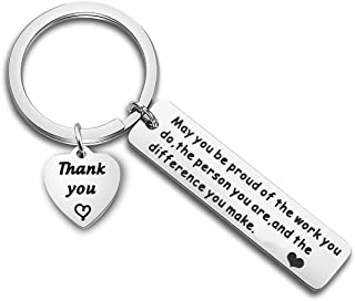SEIRAA Thank You Gift Appreciation Jewelry Make A Difference Keychain Volunteer Employee Gift Social Worker Jewelry