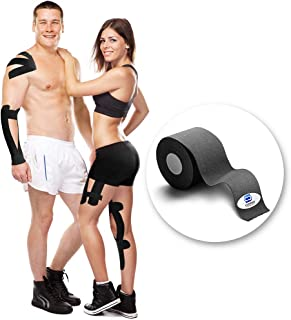 Copper Compression Kinesiology Tape - Guaranteed Highest Copper Athletic Sport K Tape. OneRoll Waterproof K-Tape for Men and Women. Kinesio Tapes Support Sports, Injuries, Knee, Shoulder, Ankle, Elbow
