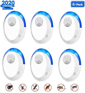 L2B 6Packs Ultrasonic Pest Repeller, 2020 Upgraded, Electronic Indoor Pest Repellent Plug in for Insects, Mice,Ant, Mosquito, Spider, Rodent, Roach, Mosquito Repellent for Children and Pets' Safe