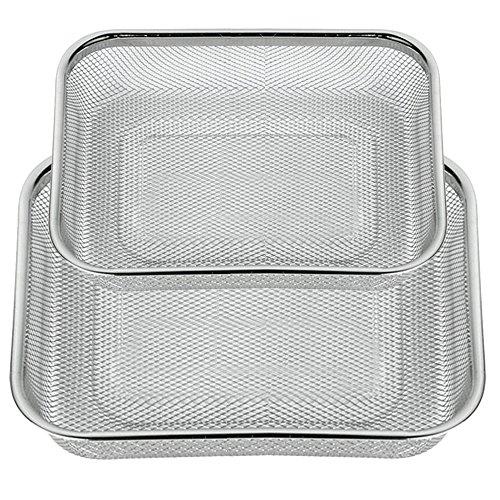 DEL - Sieb, Küchensieb - Feinmaschig - Edelstahl-Sieb - Abtropfsieb - Set von 2