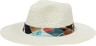 WIM Cappello Panama Fedora Panama Hat Black Banded Wide Brim Cool Summer SL6690