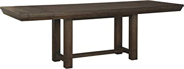 Signature Design by Ashley- Dellbeck Rectangular Dining Room Table - Extendable - Brown