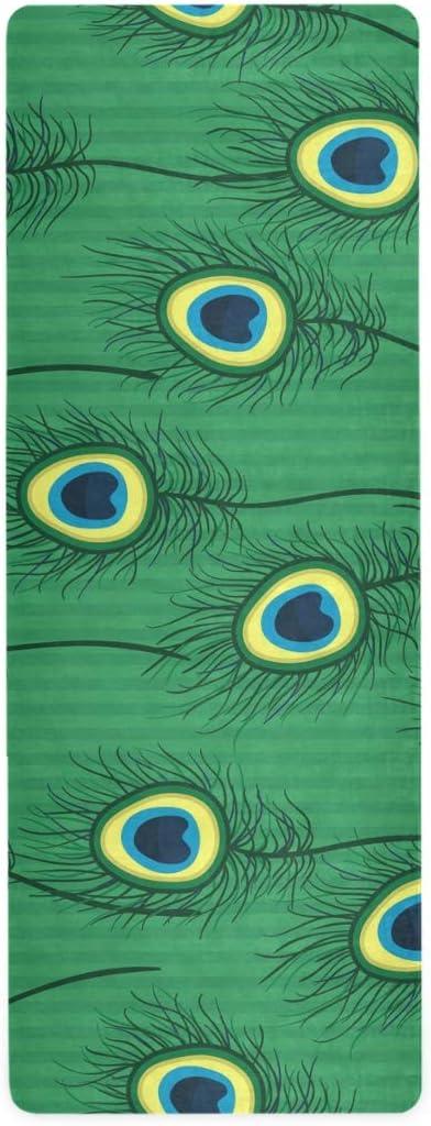 senya Special Campaign Non Slip Yoga Towel Mat Feather Microfiber High quality Peacock Co