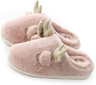 Women's Slippers Memory Foam Fuzzy Slippers Indoor & Outdoor Winter Warm Anti-Skid Rubber Sole House Shoes