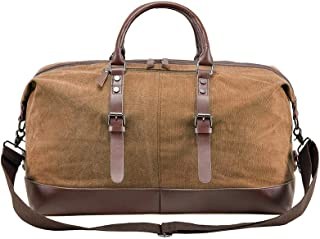 Oversized Leather Canvas Travel Bag for 2-7 days of short trips, Boarding packages, Weekend night bags, New promotional prices