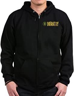 CafePress - U.S. Army: Infantry - Zip Hoodie, Classic Hooded Sweatshirt with Metal Zipper