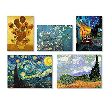 Trademark Fine Art Vincent van Gogh Wall Collection 5 Panel Set