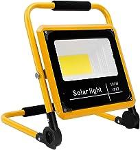 100W LED Work Light 10000LM, Portable Rechargeable Construction Site Lights IP65 Waterproof Outdoor FloodLight Workshop La...