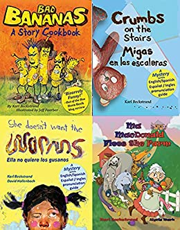 4 Food Books for Children: With Recipes & Finding Activities (4 Books for Kids) by [Karl Beckstrand, Alycia Mark, Jeff Faerber, David Hollenbach]