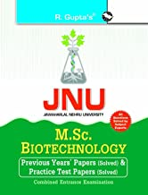 JNU: M.Sc. Biotechnology Previous Years' Papers & Test Papers (Solved) for Combined Entrance Examination