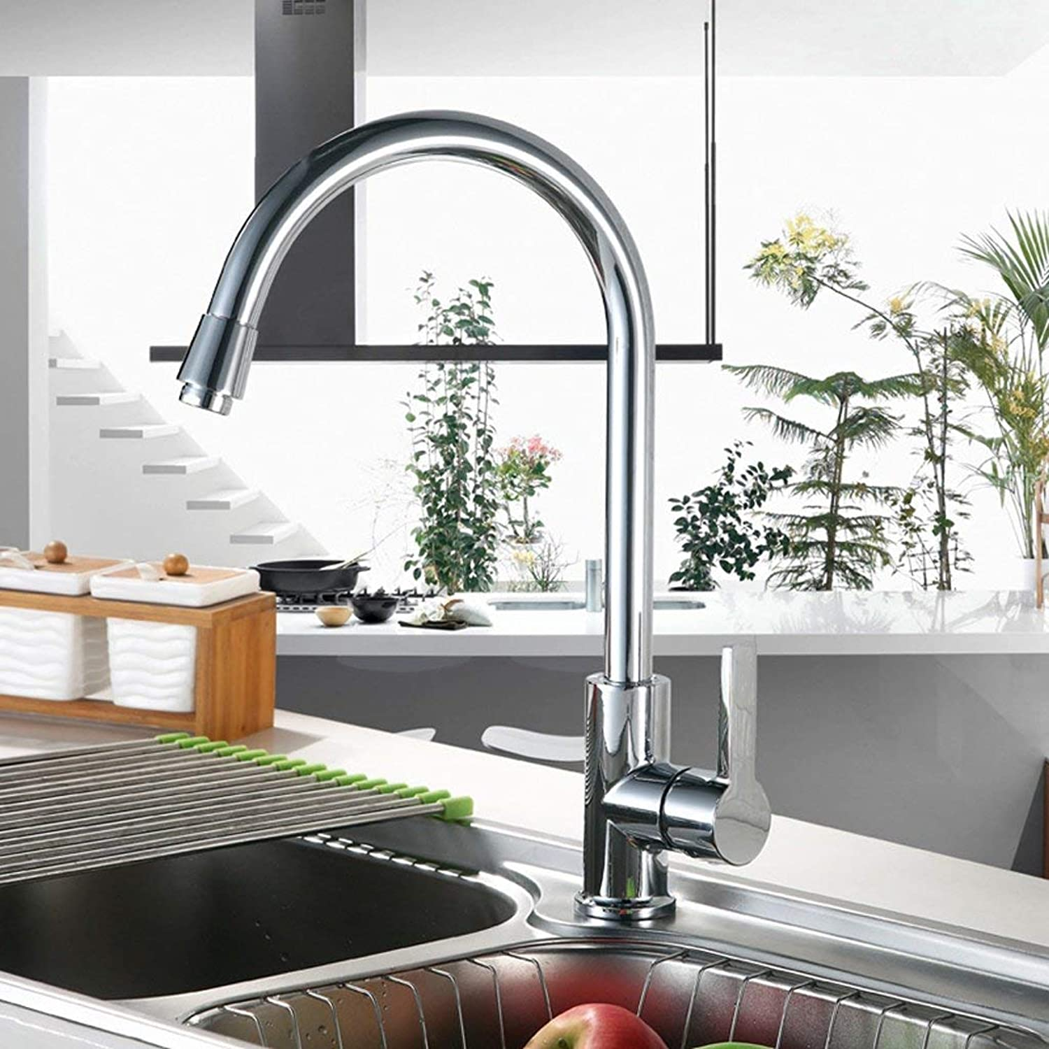 DYR Faucet kitchen hot? and cold faucet copper washing the pool bowl basin faucet sink faucet