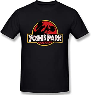 This is A Comfortable Yoshi Park Men's Fashion Short-Sleeved T-Shirt