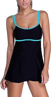 e2fd2d212bec9 Foryingni Women's One Piece Swimsuit Shoulder Straps Swim Dress