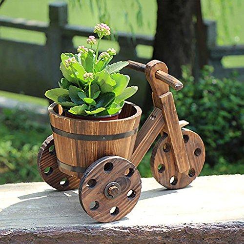 RJZHJ rural Rétro Bois massif Sapin de Chine Chariot pot de fleur Support de fleurs balcon Cadre de l'usine patio Bonsai cadre Présentoir Flotteurs , Brown , A