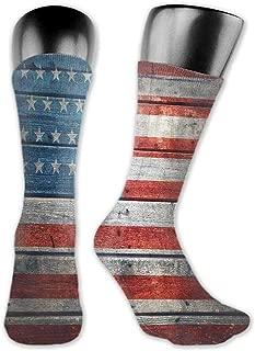 Men Fashion Socks Vintage Rustic American USA Flag,July Independence Day Weathered Antique Wooden Looking National Celebration Image,socks women cotton