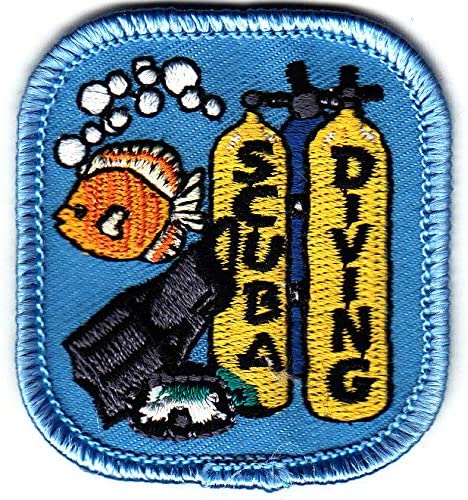 SCUBA DIVING Iron On Swimming 100% quality warranty Max 58% OFF Diver Patch