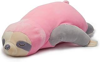 Nuffeldöns Almohada para dormir de lado, cojín de lactancia, cojín cervical, cojín perezoso para niños, cojín decorativo muy suave (rosa, 80)