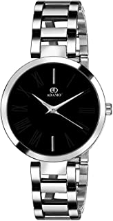 ADAMO Analogue Unisex Watch (Black Dial )