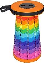 Kolorowe przenośne krzesło teleskopowe Tęczowe krzesło Krzesło składane Regulowana wysokość 16 kolorów Nadaje się na kempi...