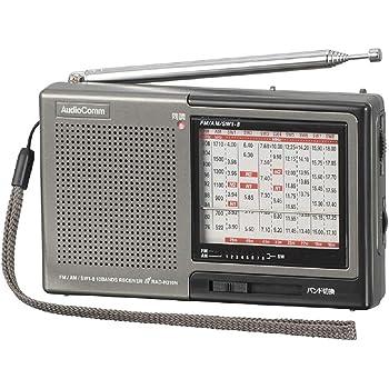 オーム電機 株・競馬ハンディたんぱラジオ ダークグレー 幅125×高さ76×奥行30.5mm RAD-H310N