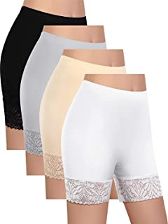 UNIUNITWO Women Lace Short High Waist Short Leggings Seamless Boyshort Shorts Under Dress for Anti-Chafing