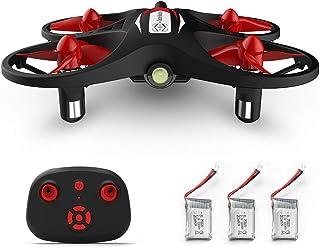 OWSOO KF608 RC Drone para iniciantes Mini RC Drone Quadricóptero com 3 baterias Altitude Holding Headless Mode 3D Rolling ...