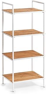 Zeller 18720 regał stojący z 4 półkami, bambus/metal, bi