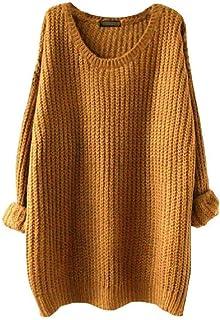 Suéter holgado de manga larga sin tirantes, de tamaño grande, para otoño