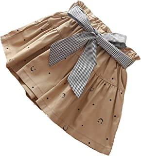 Bestime Toddler Girls Shorts Smile Polka Dot Ruffles Bowknot Kids Skirt Shorts Short Pants