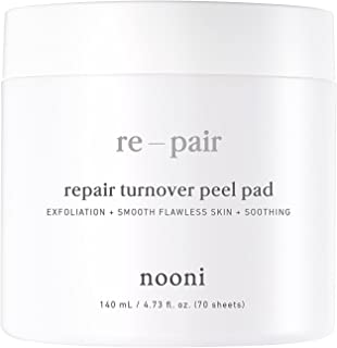 NOONI Advanced Repair Therapy Radiance Peel Pads | Skin Care Acne Pads Used As Face Wipes, Facial Exfoilator, Face Cleanser | 7pcs, 0,47 Ounces