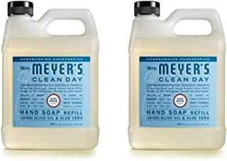 Mrs. Meyer's Clean Day Liquid Hand Soap Refill, RainWater Scent (33 OZ - 2 PACK)