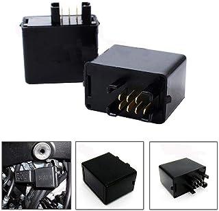mooderff 7 Broches D/écodeur Automatique 12V De Moto De Stroboscope De Relais De Clignotant Relais Clignotant /À LED pour SUZUK SV650 SV650S SV1000 SV1000S
