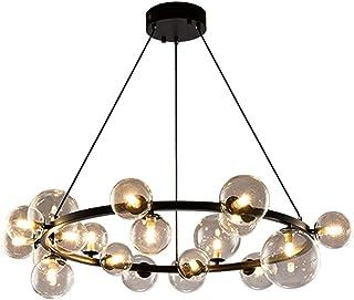 Nordic Magic Bean Molecular Chandelier,Spherical Glass Lampshade The Living Room Is Simple Pendant Lamp,Postmodern Persona...