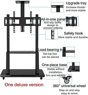Tv Stand Mobile Tv Stand for 32-70 Inch / 32-75 Inch/55-100 Inch/ 55-120 Inch,tv Tv Stand with Wheels Tv Cart Tilting Height