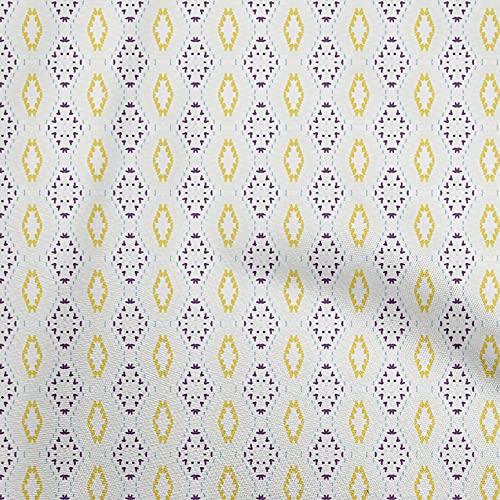 oneOone Punto De Viscosa Púrpura Tela Cuadra Bricolaje Ropa Acolchar Tela De La Impresión De Tejidos Por Metros 60 Pulgada De Ancho