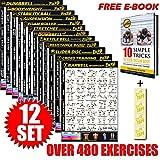 Eazy How to Multi Pack Poster d'entraînement pour entraînement 51 x 73 cm, Lot de 12., S...