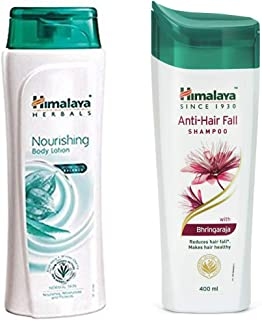 Himalaya Nourishing Body Lotion, 400ml And Himalaya Herbals Anti Hair Fall Shampoo, 400ml