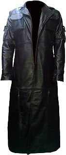 Punisher Frank Castle War Zone Thomas Jane Black Faux Leather Trench Coat
