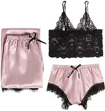 UU098 Lingerie Three-Piece, Sexy Lace Lingerie Nightwear Underwear Sleepwear Large Size Sling Pajamas